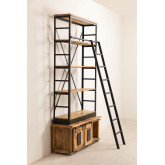Recycled Wooden  Bookcase with Ladder Uain , thumbnail image 3