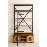 Recycled Wooden  Bookcase with Ladder Uain , thumbnail image 4