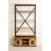 Recycled Wooden  Bookcase with Ladder Uain , thumbnail image 5