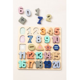 Puzzle with Wooden Numbers Nemi Kids, thumbnail image 2