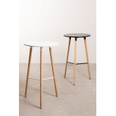 Round High Table in MDF and Metal (Ø60 cm) Royal Design, thumbnail image 5