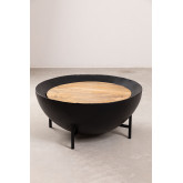 Round Coffee Table in Mango Wood and Iron (Ø90 cm) Muty, thumbnail image 2