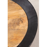Round Coffee Table in Mango Wood and Iron (Ø90 cm) Muty, thumbnail image 3
