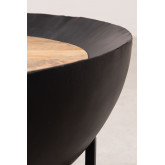 Round Coffee Table in Mango Wood and Iron (Ø90 cm) Muty, thumbnail image 4