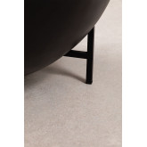 Round Coffee Table in Mango Wood and Iron (Ø90 cm) Muty, thumbnail image 5