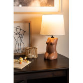 Polyethylene & Fabric Table Lamp Kazi, thumbnail image 2