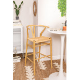 High Stool with Back in Uish Wood, thumbnail image 1