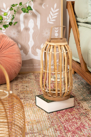 Candle Holders in Rattan Dord
