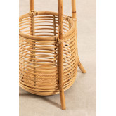 Groll Rattan Coat Rack with Basket, thumbnail image 3