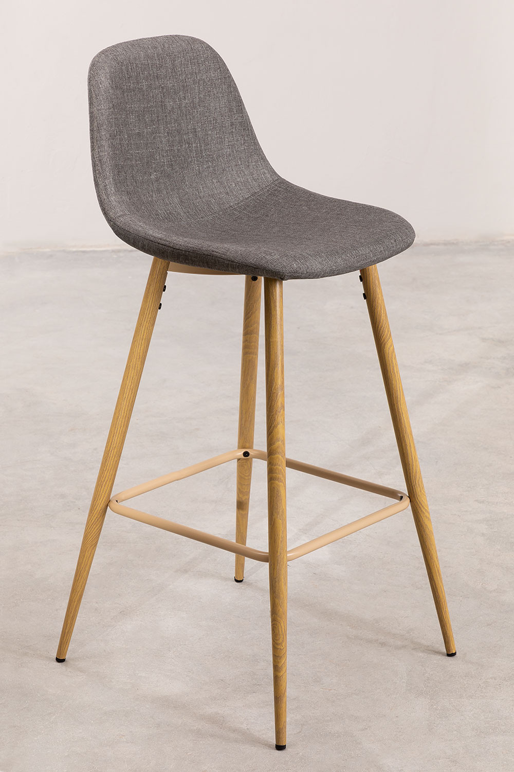 Pack 4 High Stools in Linen Glamm, gallery image 1