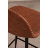 Pack 2 High Stools in Leatherette Glamm, thumbnail image 3