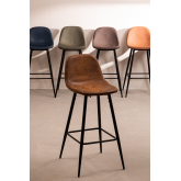 Pack 2 High Stools in Leatherette Glamm, thumbnail image 5