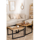 Emet Recycled Wood Nest Tables, thumbnail image 1