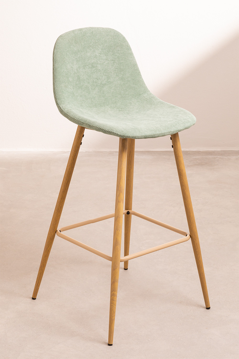 Pack 2 Tall Stools in Corduroy Glamm, gallery image 1