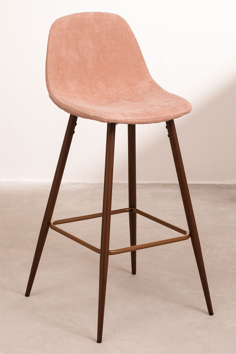 Pack 4 Tall Stools in Corduroy Glamm, gallery image 1