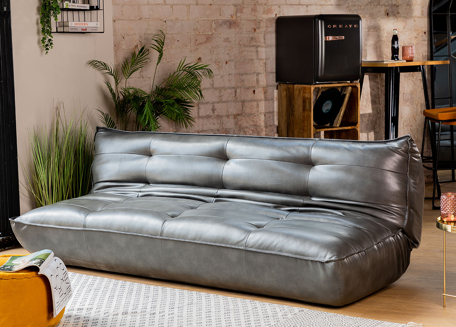 3-Seater Leatherette Sofa Bed Mati , gallery image 1