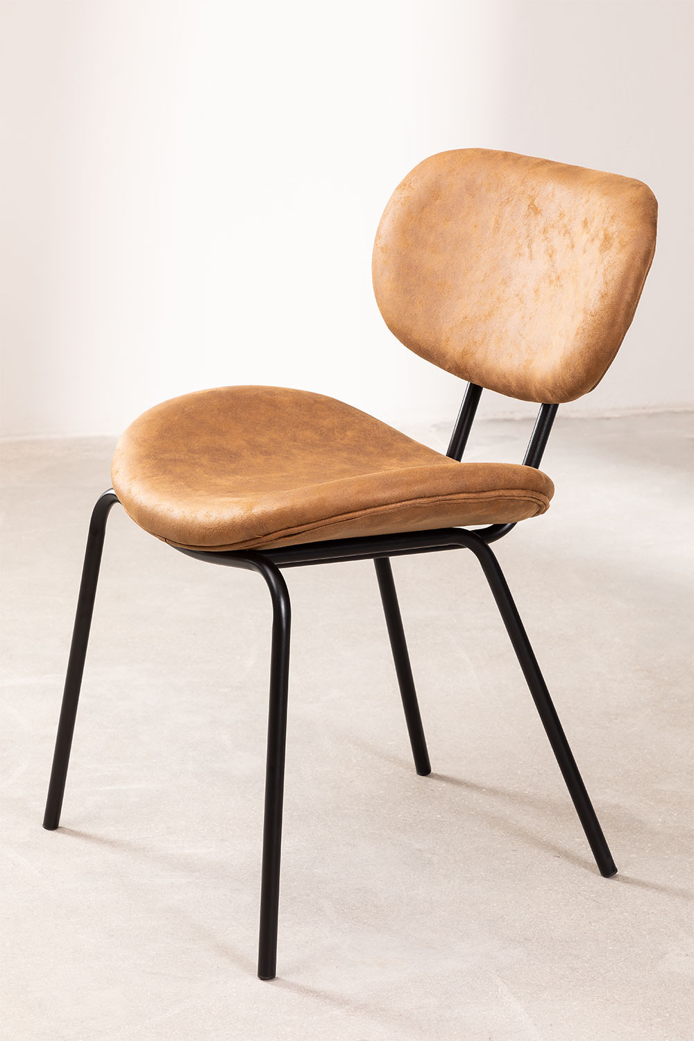 Abix Leatherette Dining Chair, gallery image 1