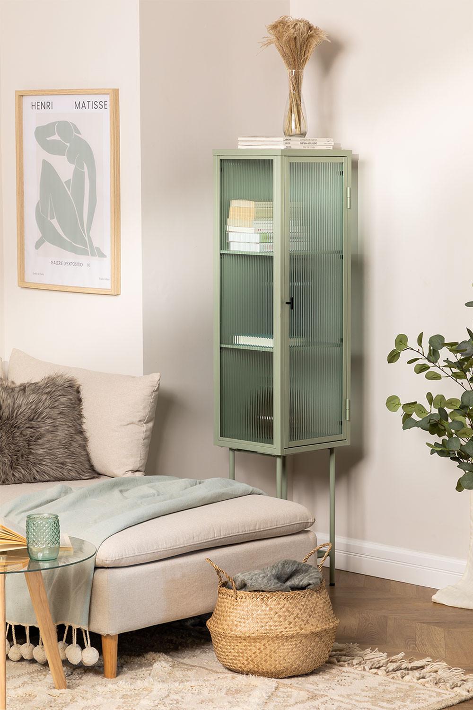 1 Door Showcase in Metal and Vertal Glass, gallery image 1