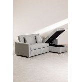 3-Seater Interchangeable Linen  Chaise Longue- Sofa Bed Duom, thumbnail image 6
