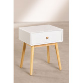 Nightstand in MDF and Lucka Pine Wood, thumbnail image 2