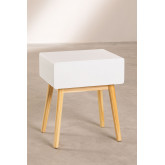 Nightstand in MDF and Lucka Pine Wood, thumbnail image 3