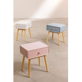 Nightstand in MDF and Lucka Pine Wood, thumbnail image 6