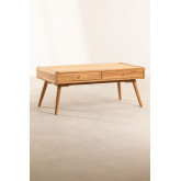 Memphis Teak Wood Coffee Table, thumbnail image 2