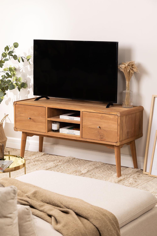 Memphis Teak Wood TV Cabinet, gallery image 1