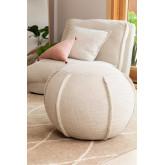 Round pouf in Salma fabric, thumbnail image 1