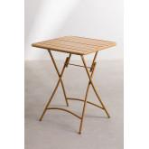 Garden  Set  Foldable Table (60x60 cm) & 2 Foldable Chairs Janti , thumbnail image 4