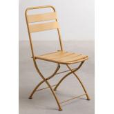 Garden  Set  Foldable Table (60x60 cm) & 2 Foldable Chairs Janti , thumbnail image 5