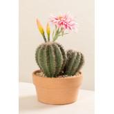 Artificial Cactus with Rebutia Flowers, thumbnail image 2