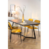 Rectangular Dining Table in Mango Wood (170x90 cm) Gledi, thumbnail image 1