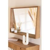 Rectangular Wall Mirror with MDF Shelf (50x80 cm) Nurah, thumbnail image 1