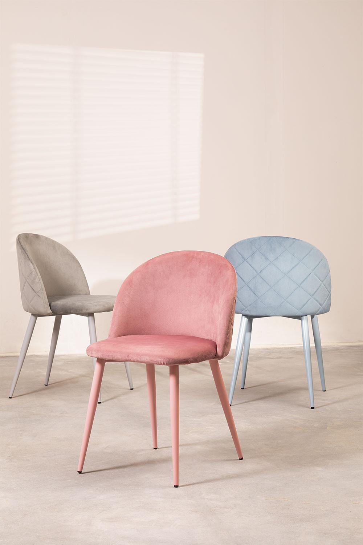Velvet Dining Chair Kana Colors, gallery image 1