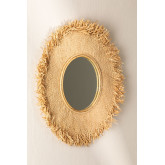 Round Wall Mirror in Raffia (Ø55 cm) Deani, thumbnail image 1