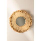 Round Wall Mirror in Raffia (Ø55 cm) Deani, thumbnail image 2