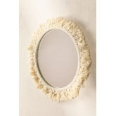 Round Wall Mirror in Macrame (Ø40 cm) Colin, thumbnail image 1