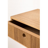 Wall-mounted  Ash Wood Bedside Table with Drawer  41cm Glai, thumbnail image 5