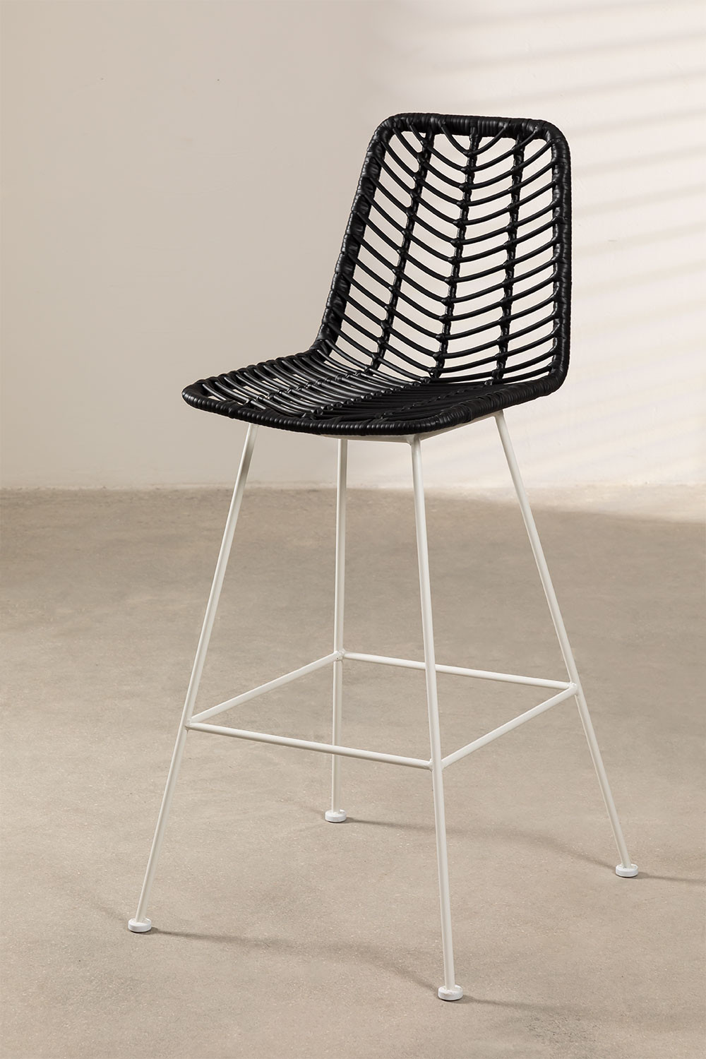 Gouda Colors Synthetic Rattan High Stool, gallery image 1