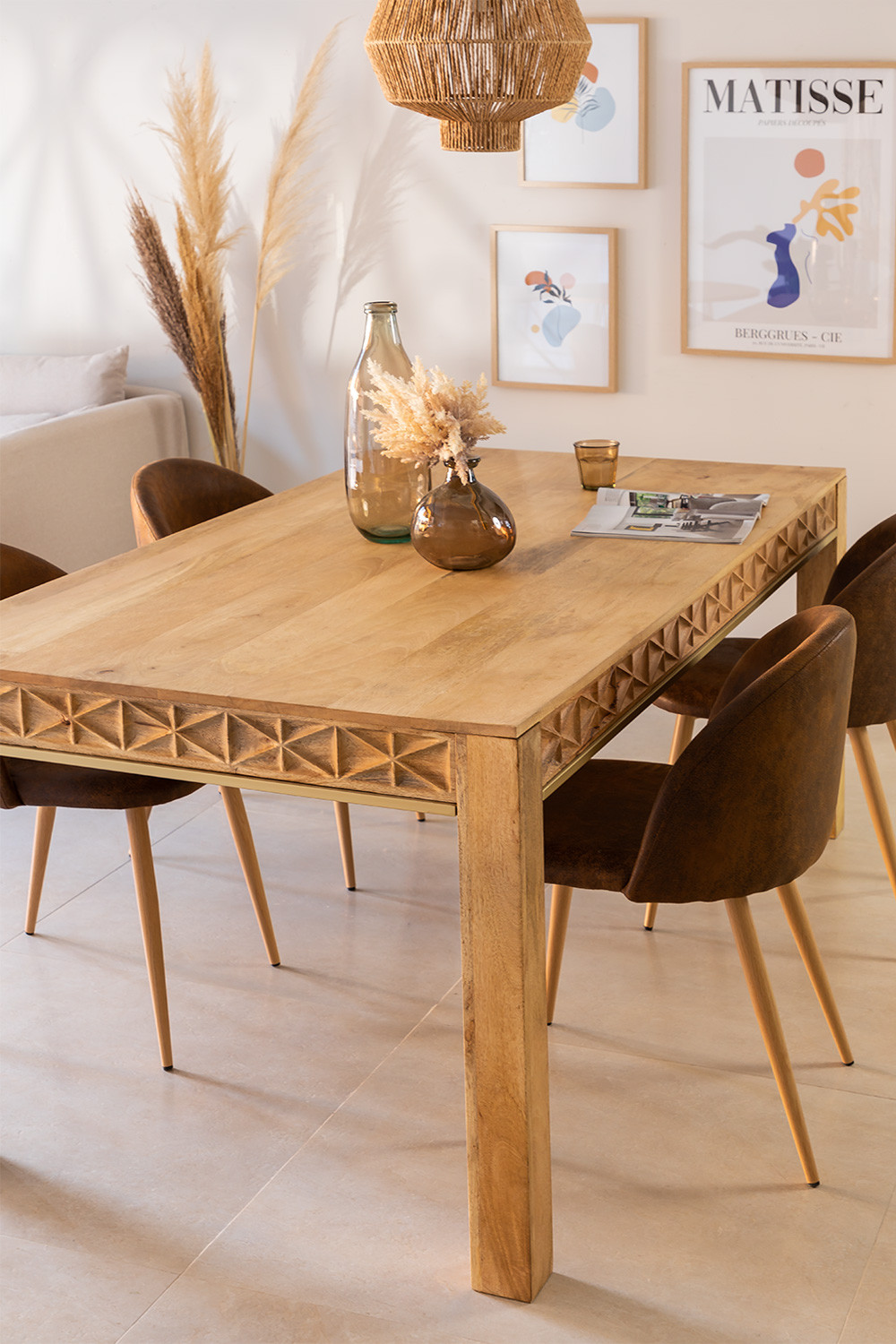 Rectangular Wooden Dining Table (183x94 cm) Alba, gallery image 1