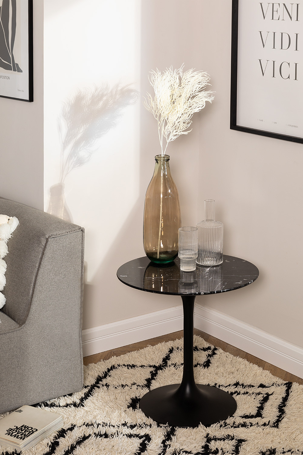 Round Marble Side Table (Ø50 cm) Tuhl, gallery image 1