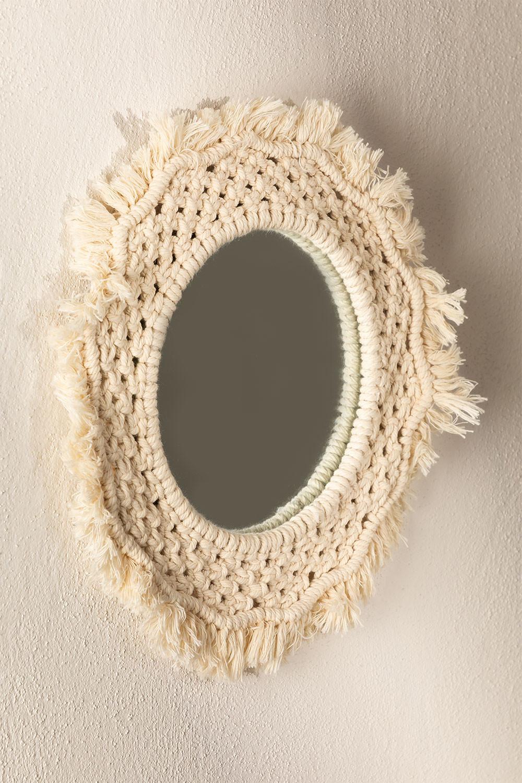 Round Wall Mirror in Macrame (Ø35 cm) Notel, gallery image 1