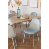 Glamm Colors Velvet Dining Chair, thumbnail image 1