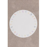 Individual Round Vinyl Tablecloth Letters Kids, thumbnail image 2