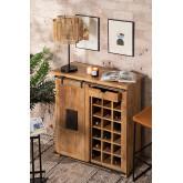 Wooden Wine Rack Cabinet Uain, thumbnail image 1