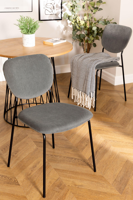 Taris Velvet Upholstered Dining Chair, gallery image 1