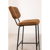 High Stool with Back in Leatherette Ospi, thumbnail image 4