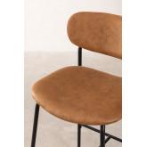 Leatherette High Stool with Backrest Abix, thumbnail image 4