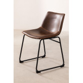 Leatherette Upholstered Chair Ody Style, thumbnail image 2